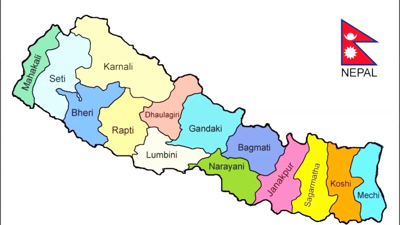 Nepalesiske Kort Nepal Kort Nyt Det Sydlige Asien Asien